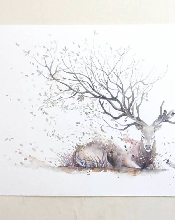 water color painting by jongkie