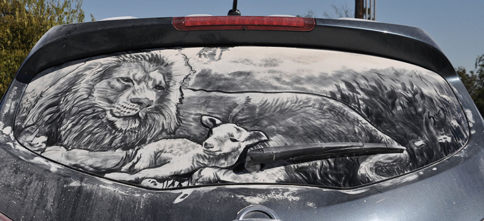 15 amazing artwork dirty cars by scott wade's