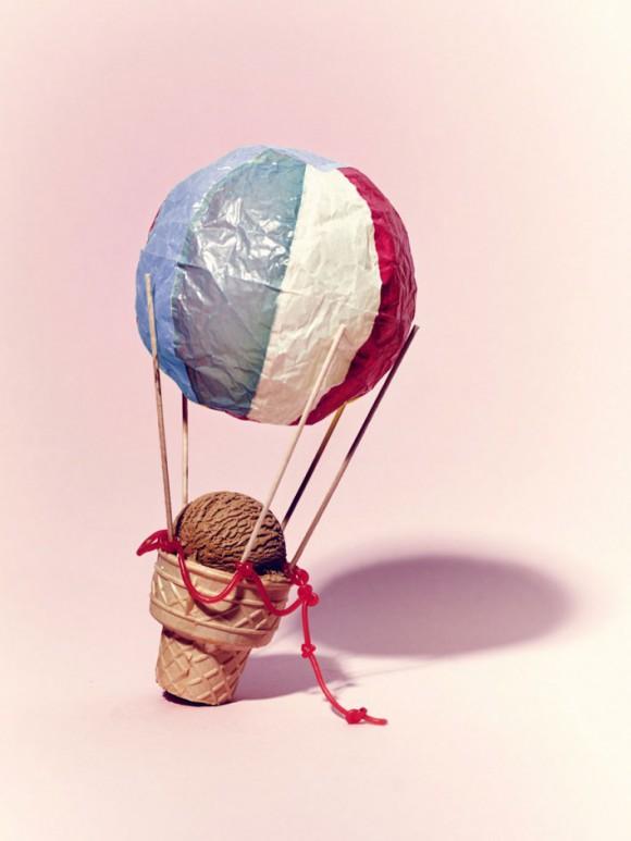 creative art corn ice parachute art sarah illenberger