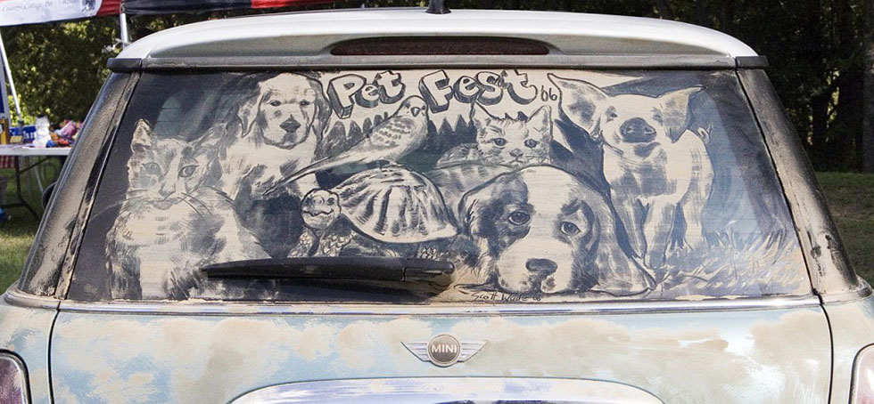 2 amazing artwork dirty cars by scott wade's