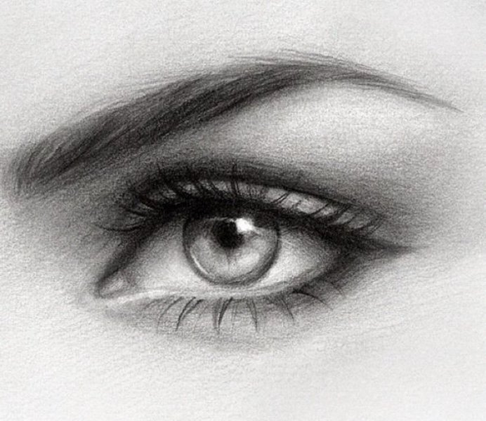 realistic eyes pencil drawing by gabrielle