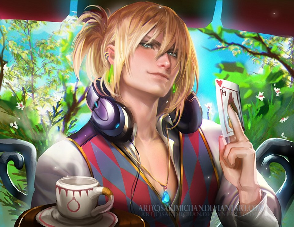 waiter howl digital art by sakimichan