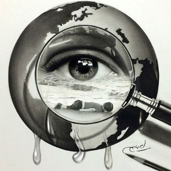 pencil drawing by ayman
