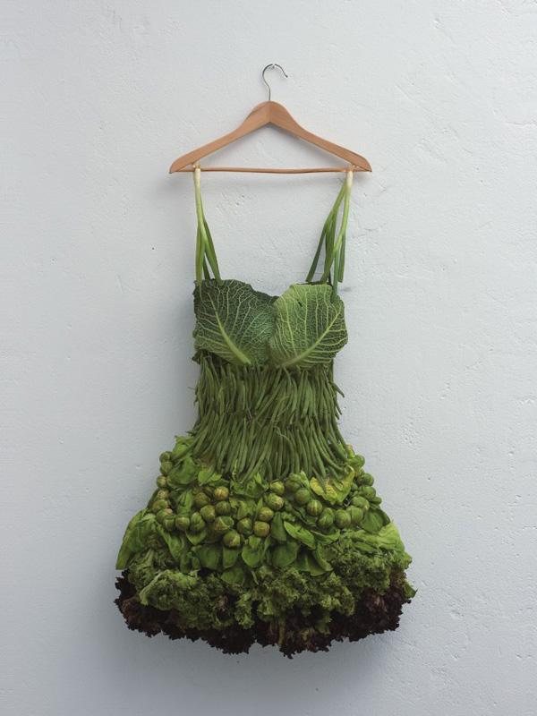 fruit art cabbage dress sarah illenberger