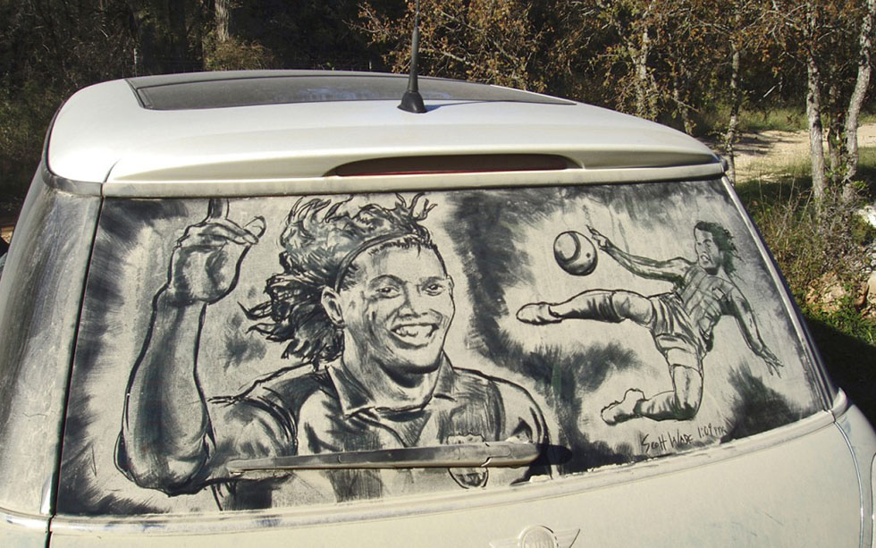 amazing artwork dirty cars by scott wade's