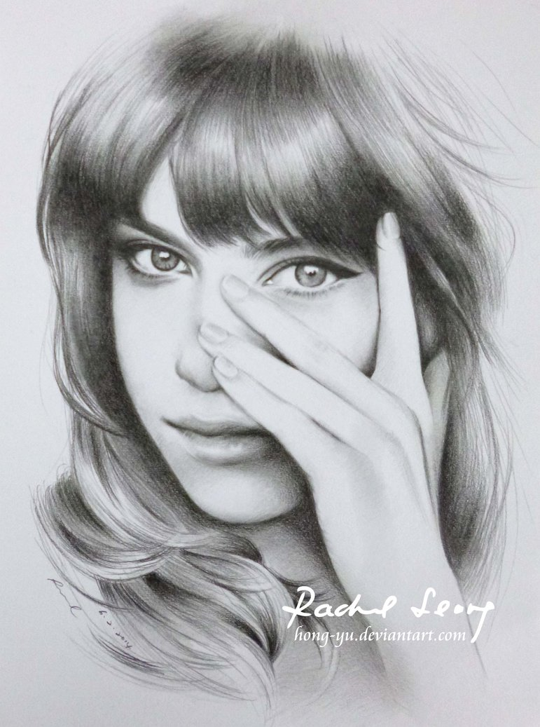 girl pencil art by leong hong yu