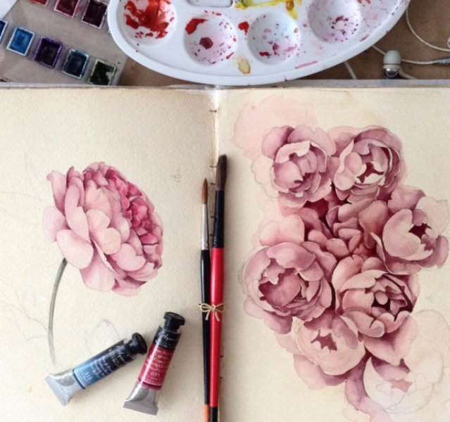 watercolor paintings art by elena