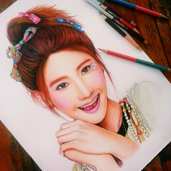colour pencil drawing by froy kantida