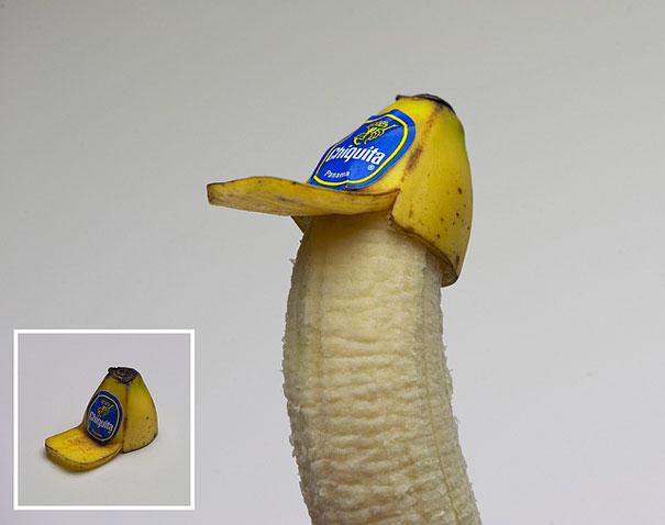 fruit art banana hat sarah illenberger