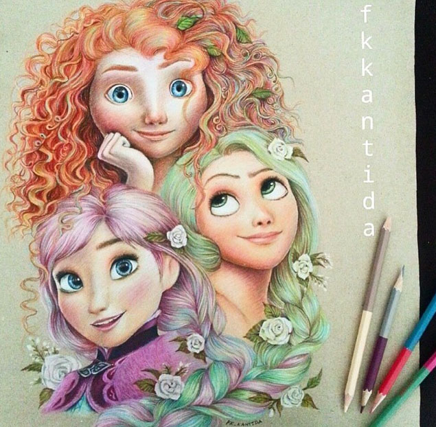 7 colour pencil drawing by froy kantida