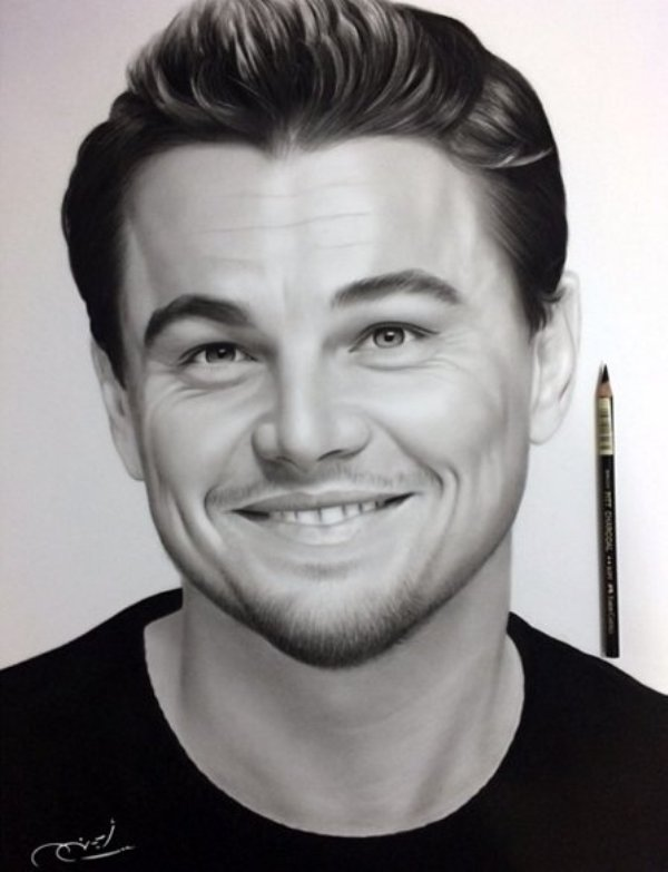 leonardo pencil drawing by ayman