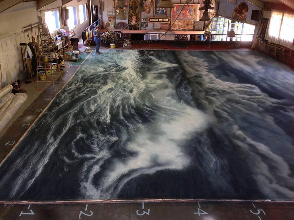 9 large paintings by cinta vidal