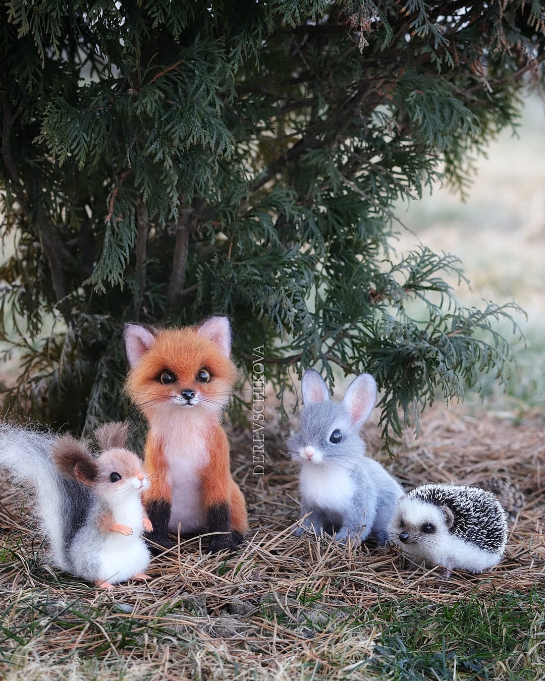 felting sculpture animals derevschikova