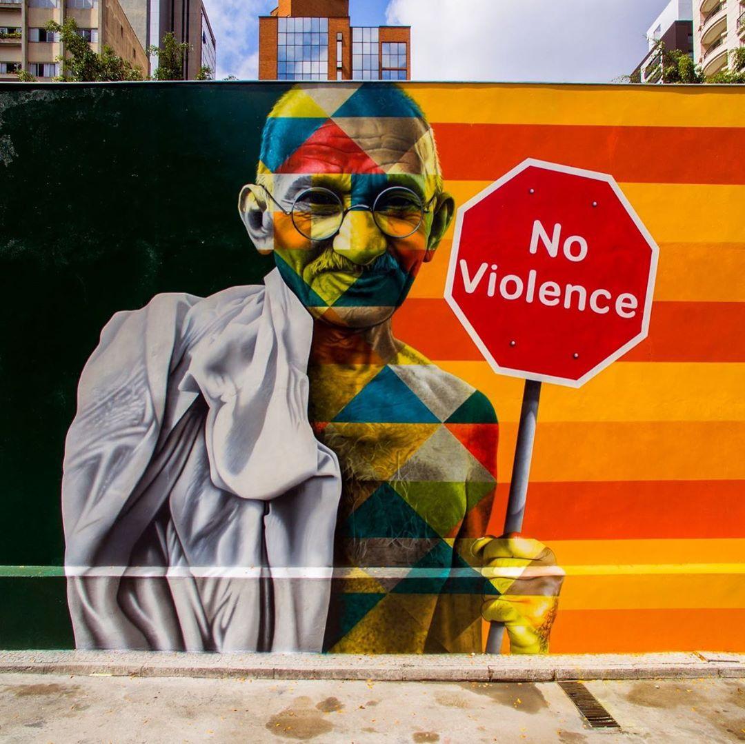 street art no violence eduardo kobra