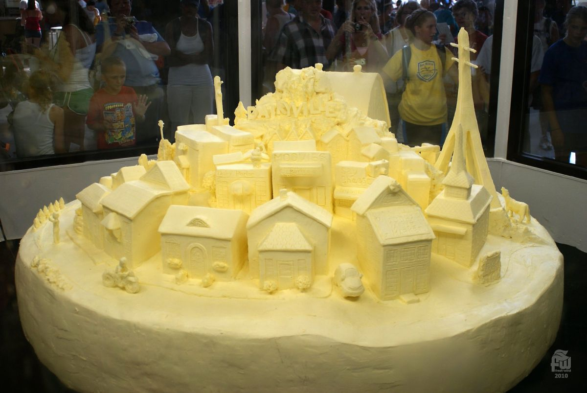 butter sculpture village drrus