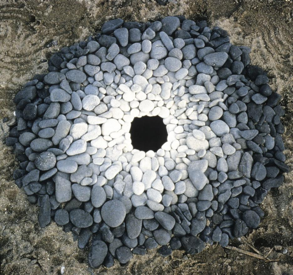 creative art ideas stone hole andy goldsworthy