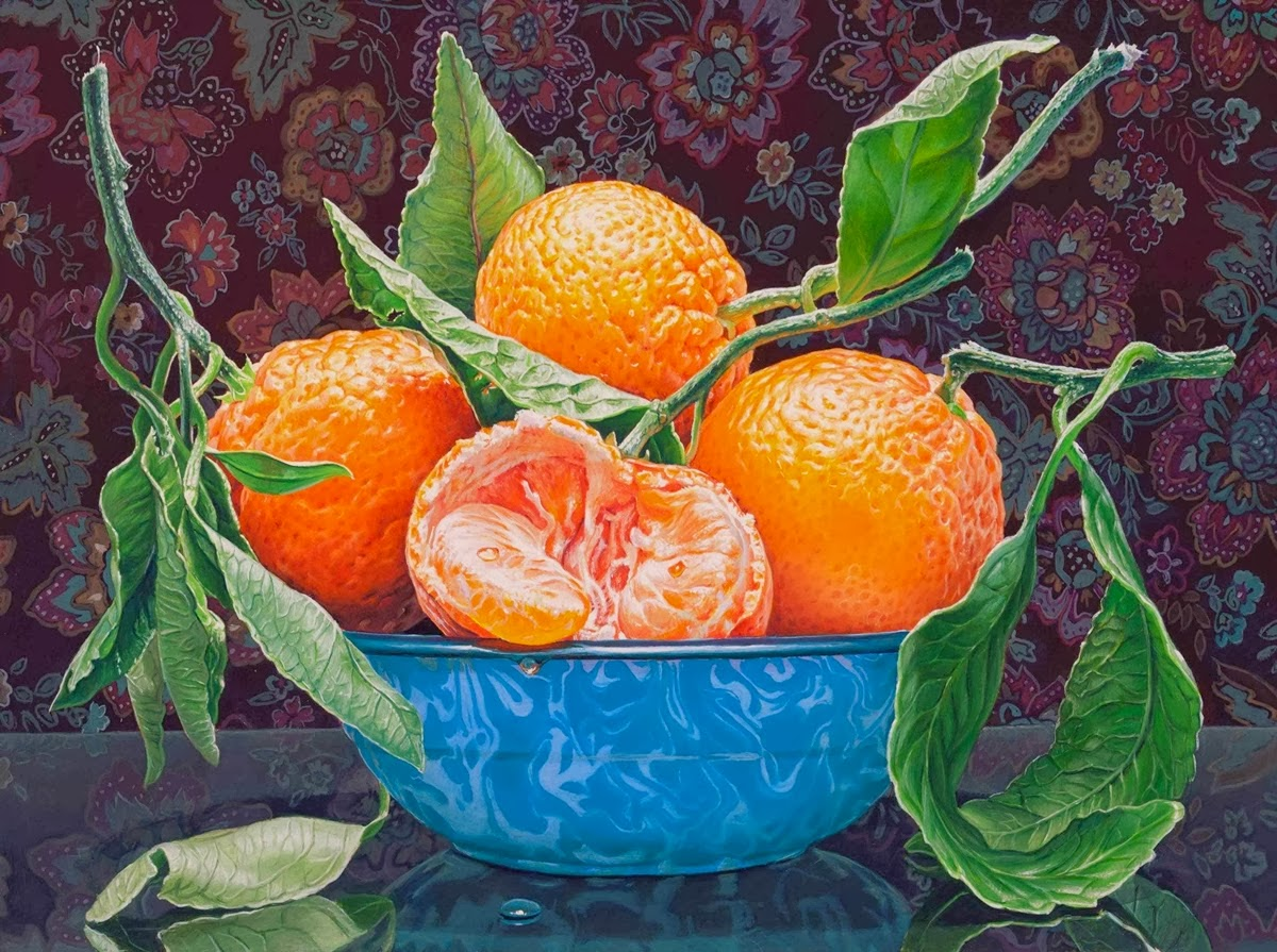 12 still life oil paintings oranges eric wert