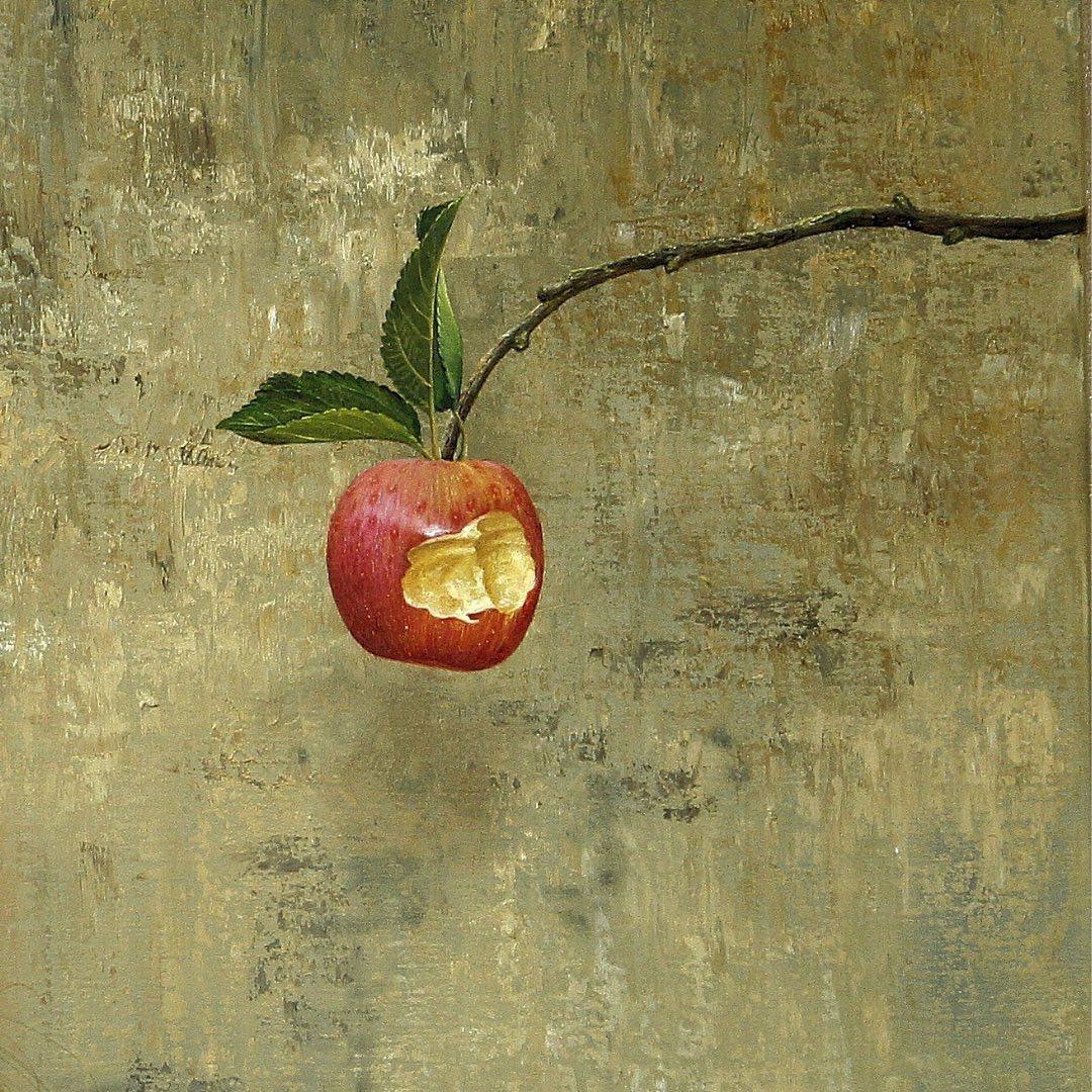 oil painting apple christiane vleugels