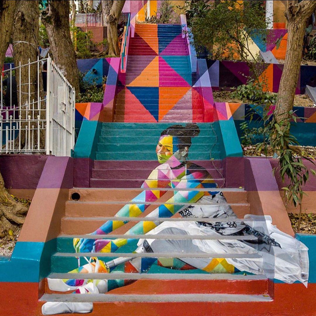 15 street art stairs eduardo kobra