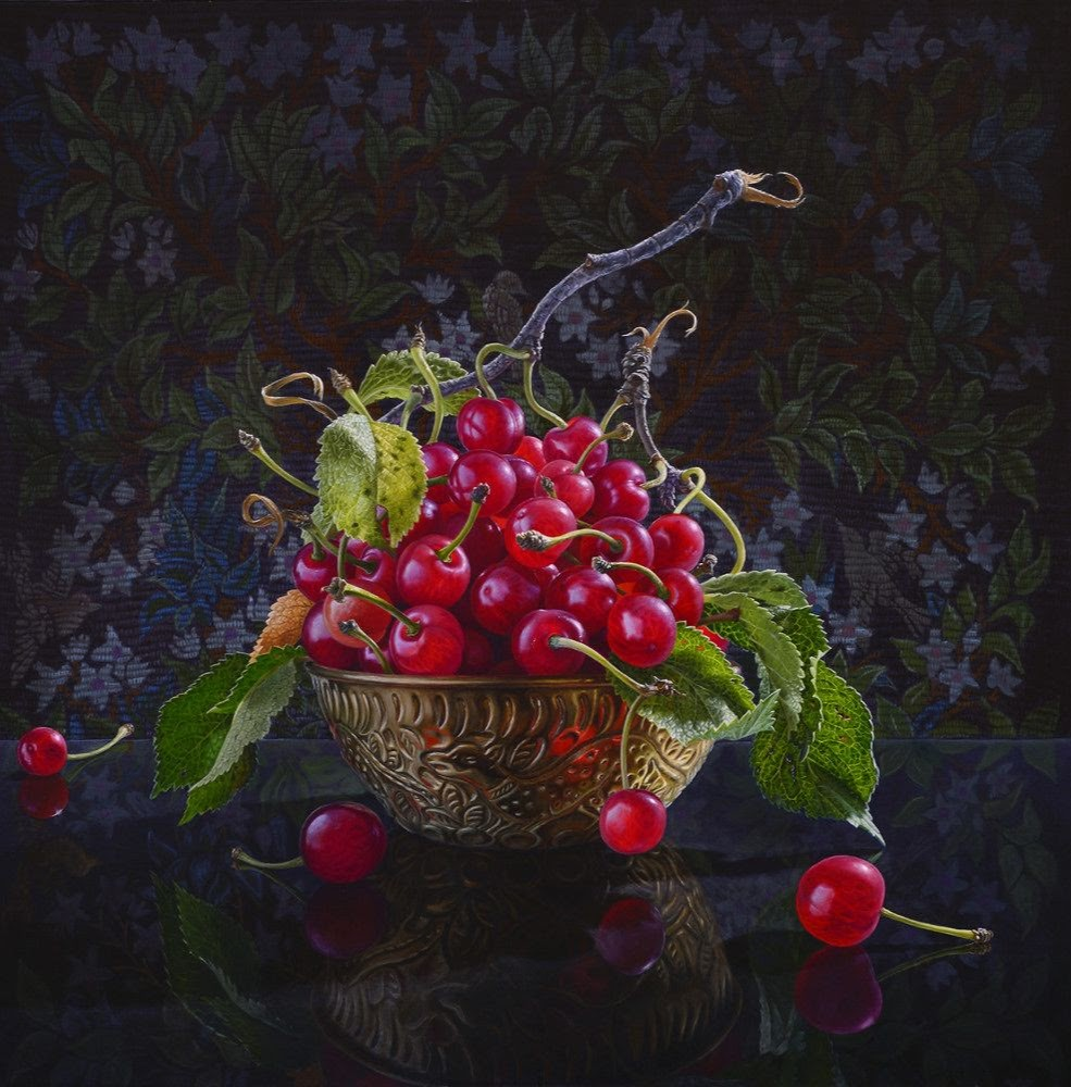 still life oil paintings cherry eric wert