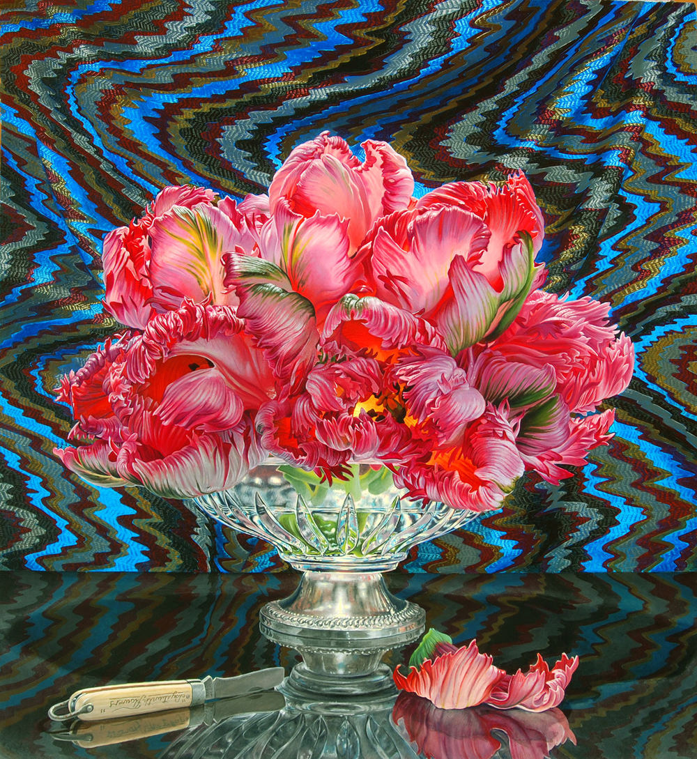 still life oil paintings flower eric wert