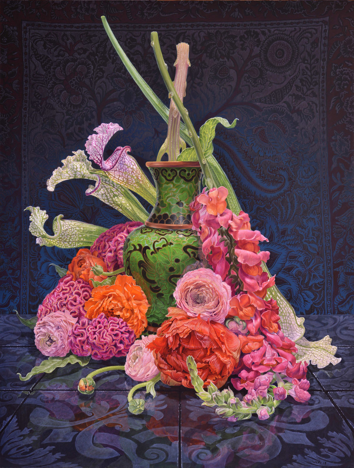 still life oil paintings flowers eric wert