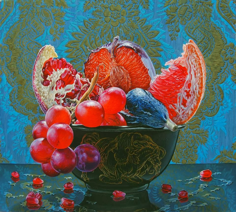 still life oil paintings fresh fruits eric wert