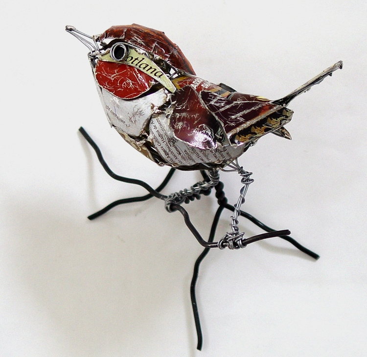 sculpture recycled material sculpture recycled material bird by barbara franc