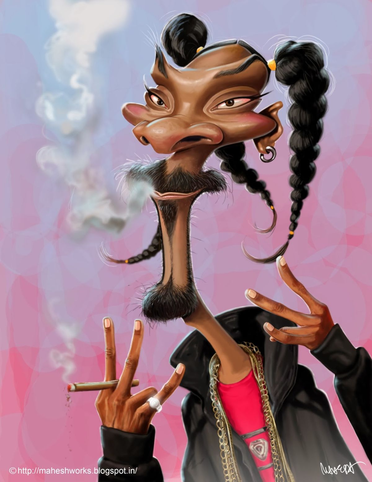 caricature snoop dog by mahesh nambiar