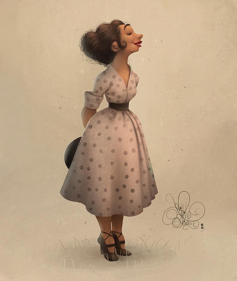 digital illustration vintage by nikhil shinde