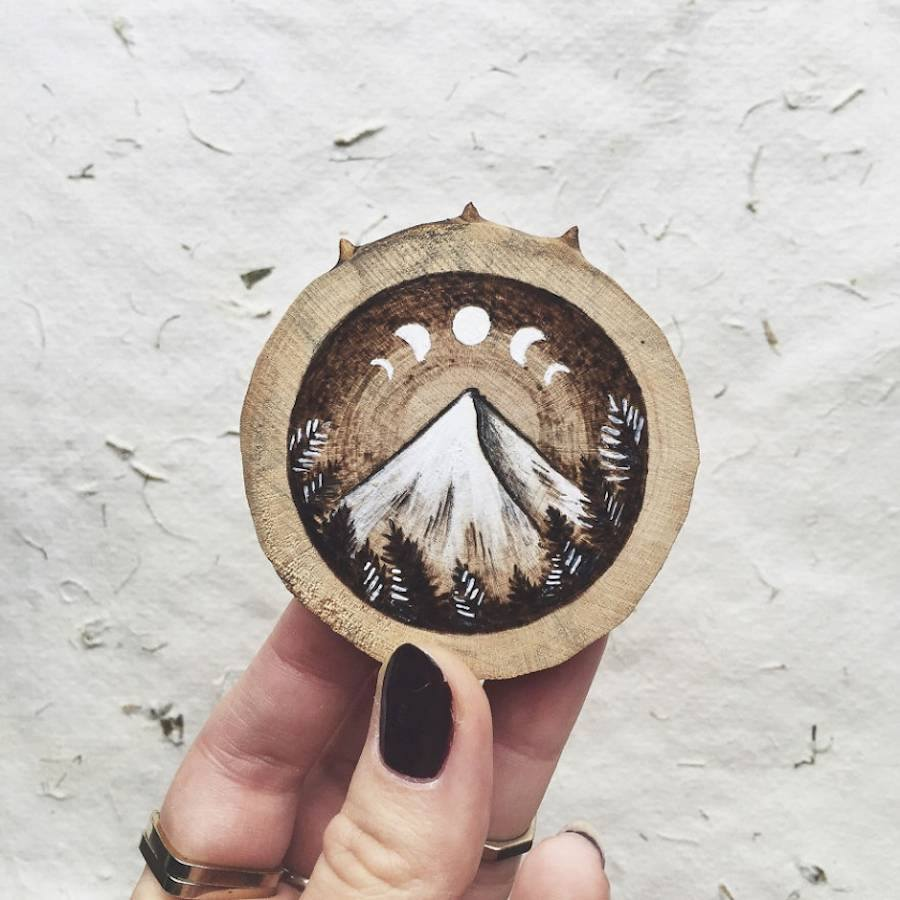 miniature wood painting eclipse by gracemere woods