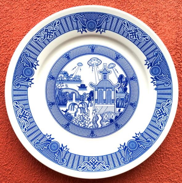 3 art idea ceramic plate by don moyer