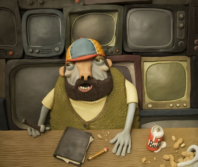 funny clay sculpture models by gianluca maruotti