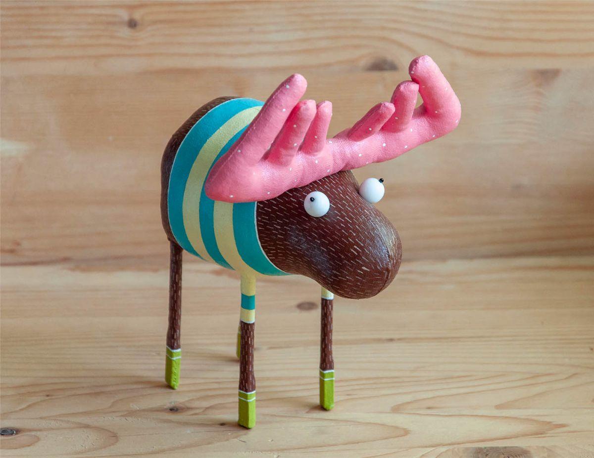 funny toy sculpture moose by lidiya marinchuk