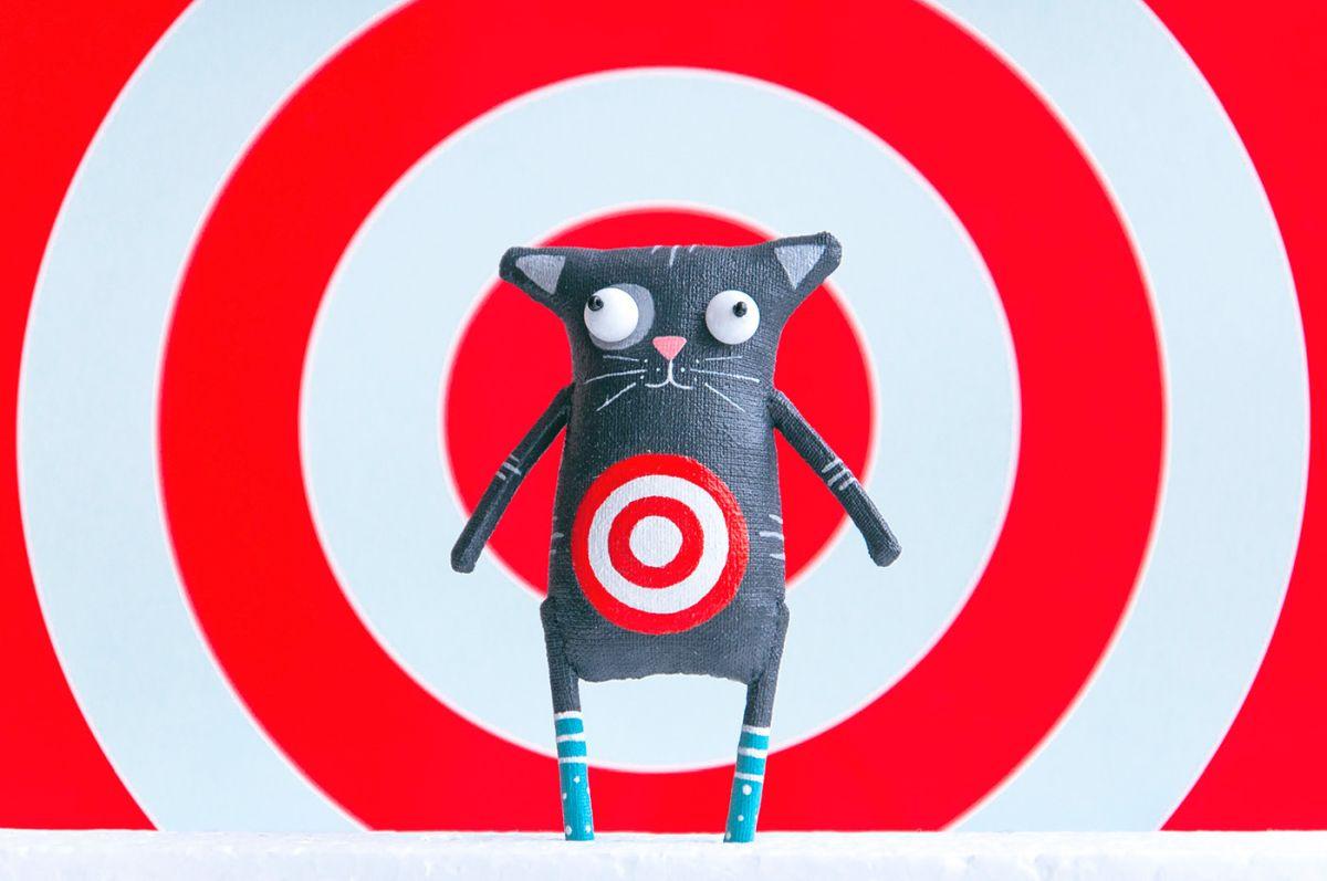 toy character sculpture cat by lidiya marinchuk