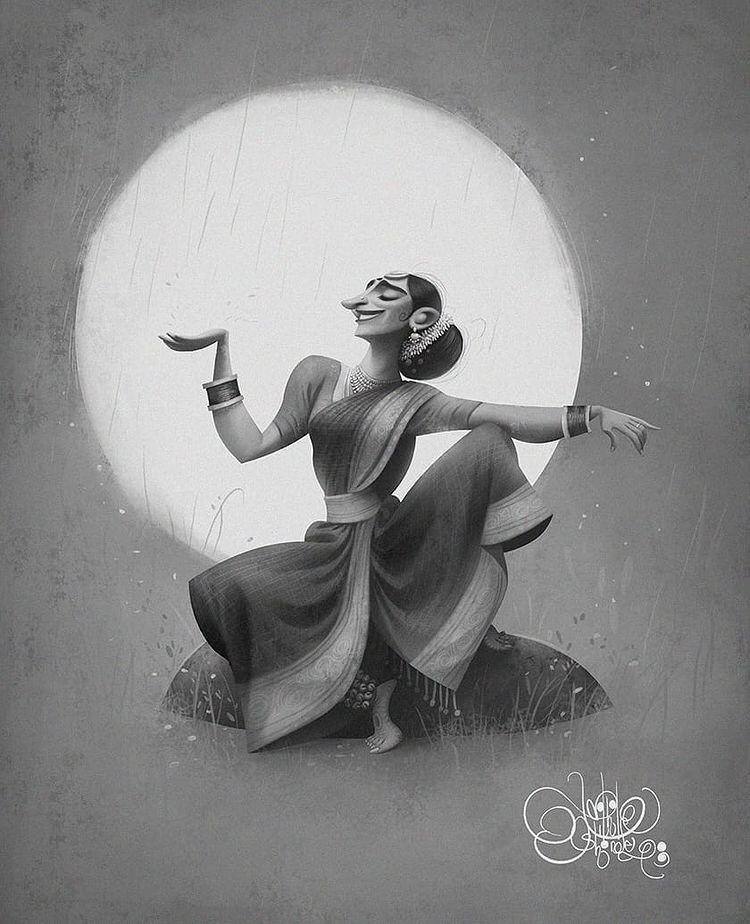 digital illustration singer by nikhil shinde