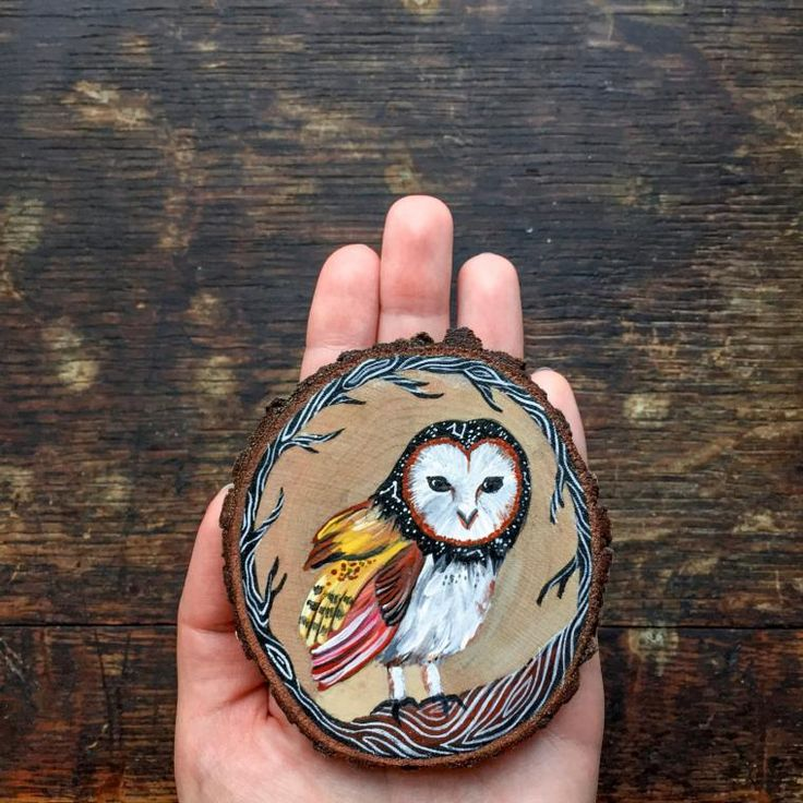 miniature painting wood owl by gracemere woods