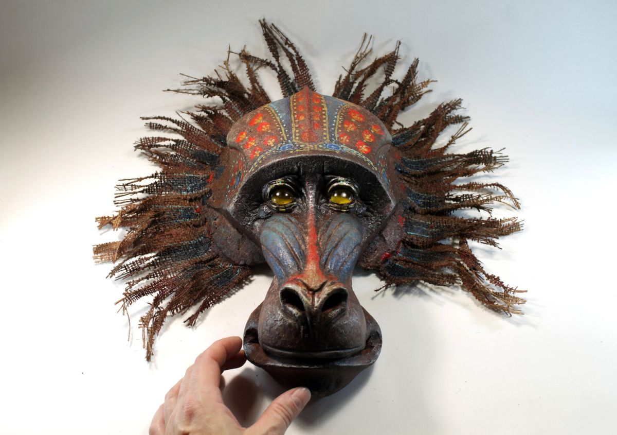 amazing wall sculpture mandril by tomas barcelo