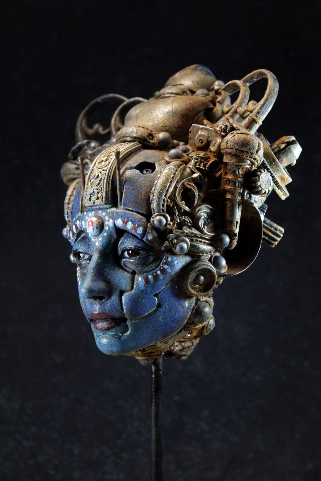 amazing wall sculpture blue sandara by tomas barcelo