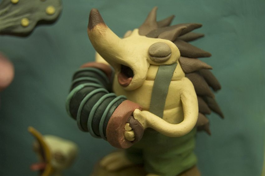 funny clay models by gianluca maruotti
