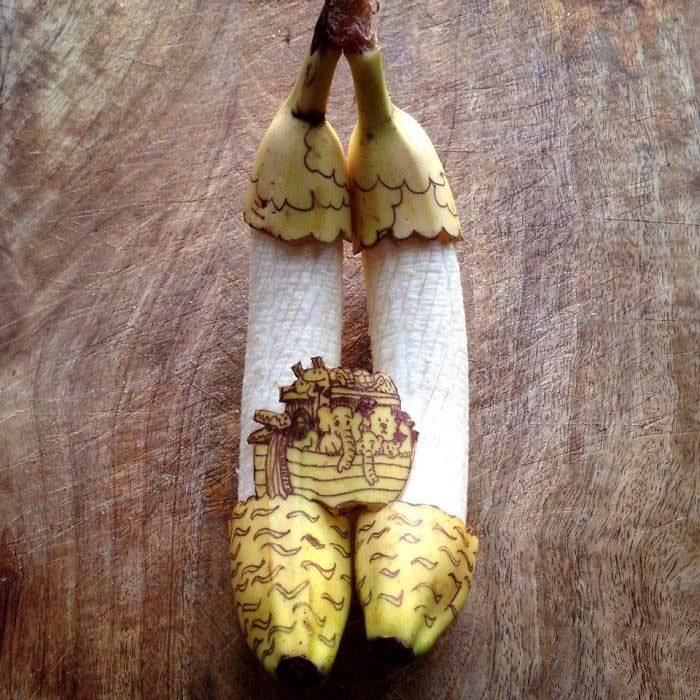 elephant banana art