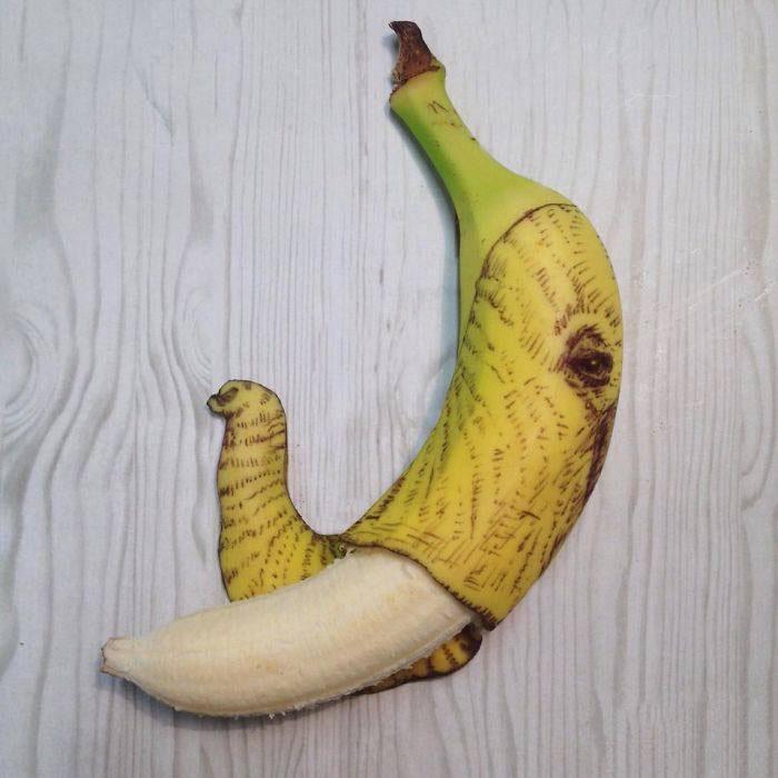 elephants banana art