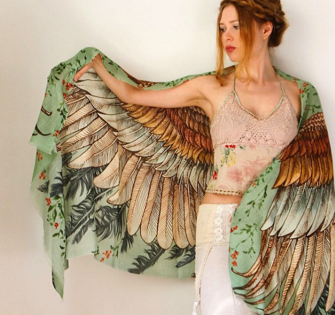 green wings scarf art 1