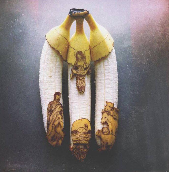 people banana art