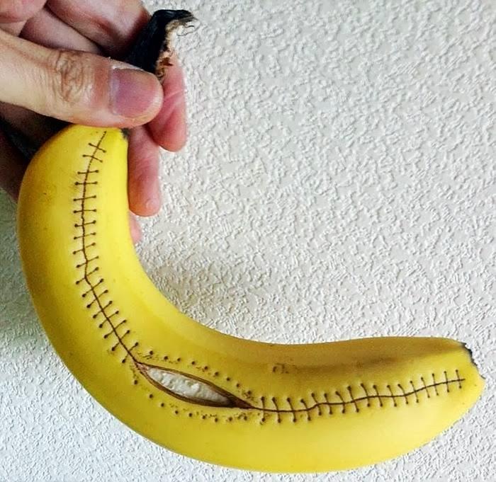 stitch banana art