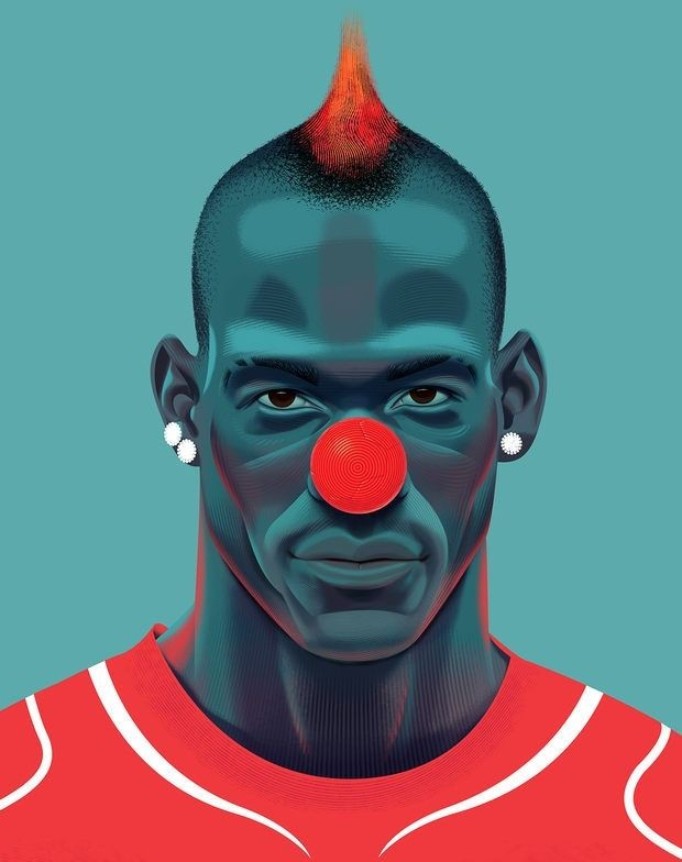 1 funny soccer digital illustration by nigel buchanan