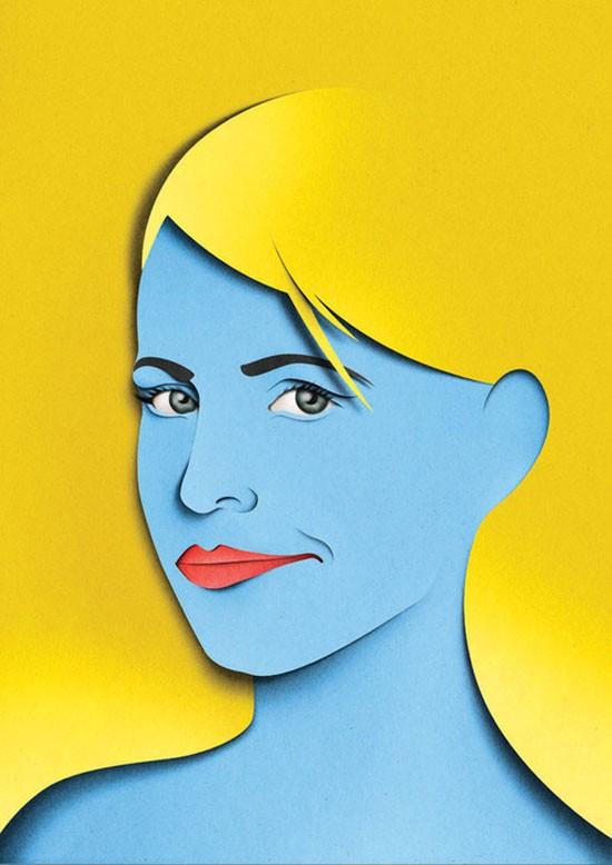 woman paper art by eiko ojala