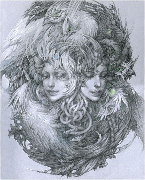 women surreal drawings by olga