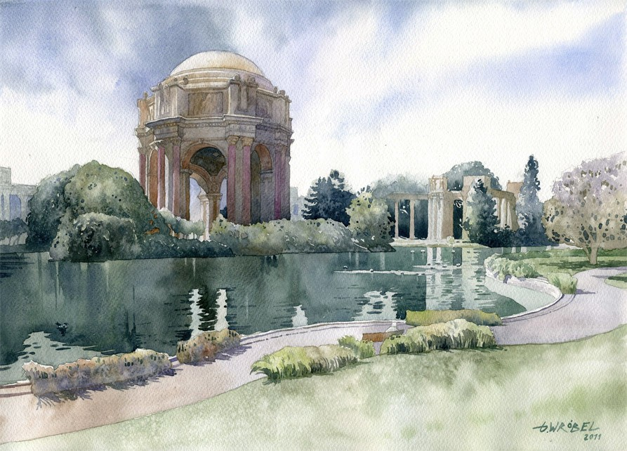 epic garden watercolor paintings by wrobel