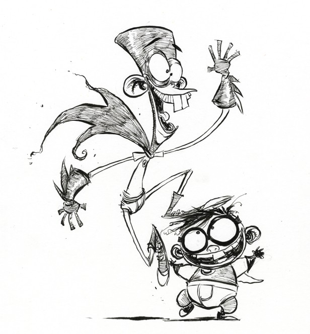 fanboy chum chum comic art by skottie young
